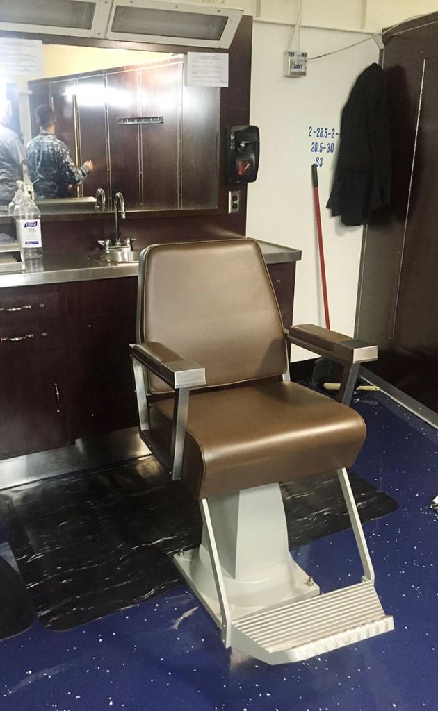 Upholster Barber Chair