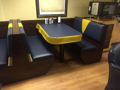 USS Kearsarge Chief's Mess Upholstered Booth Seating