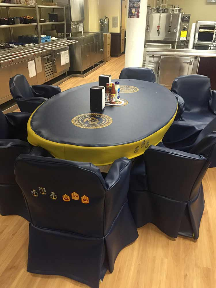 USS Kearsarge Chief's Mess Table and Chair Covers