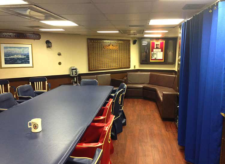 USS Oscar Austin Wardroom